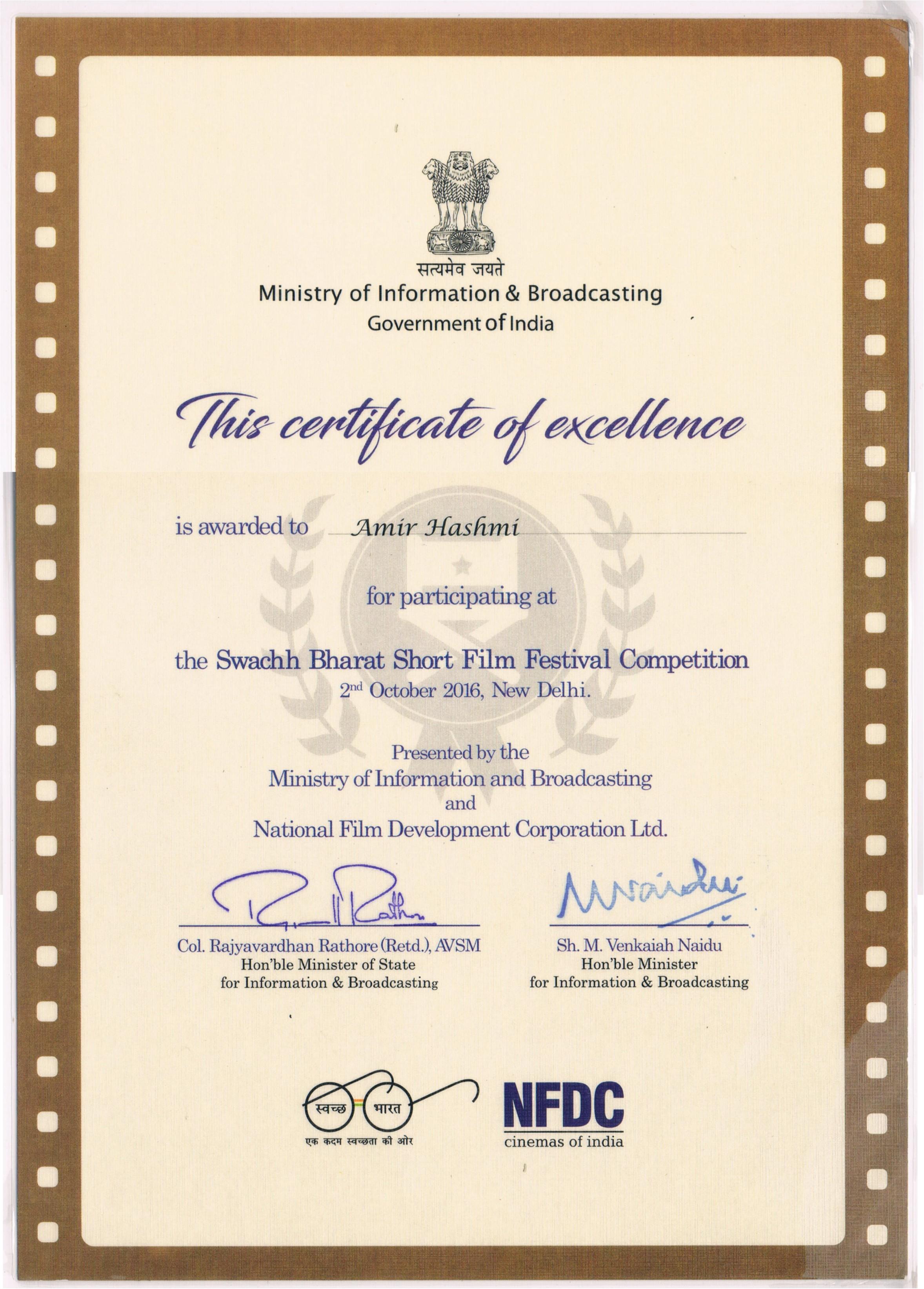 NDFC Certificate Full