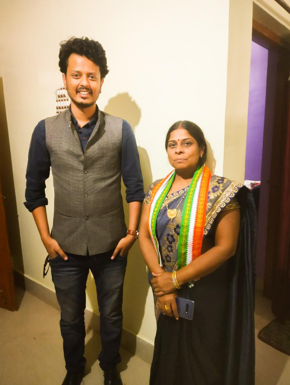 Mamta Chandrakar Kawardha MLA with Amir Hashmi