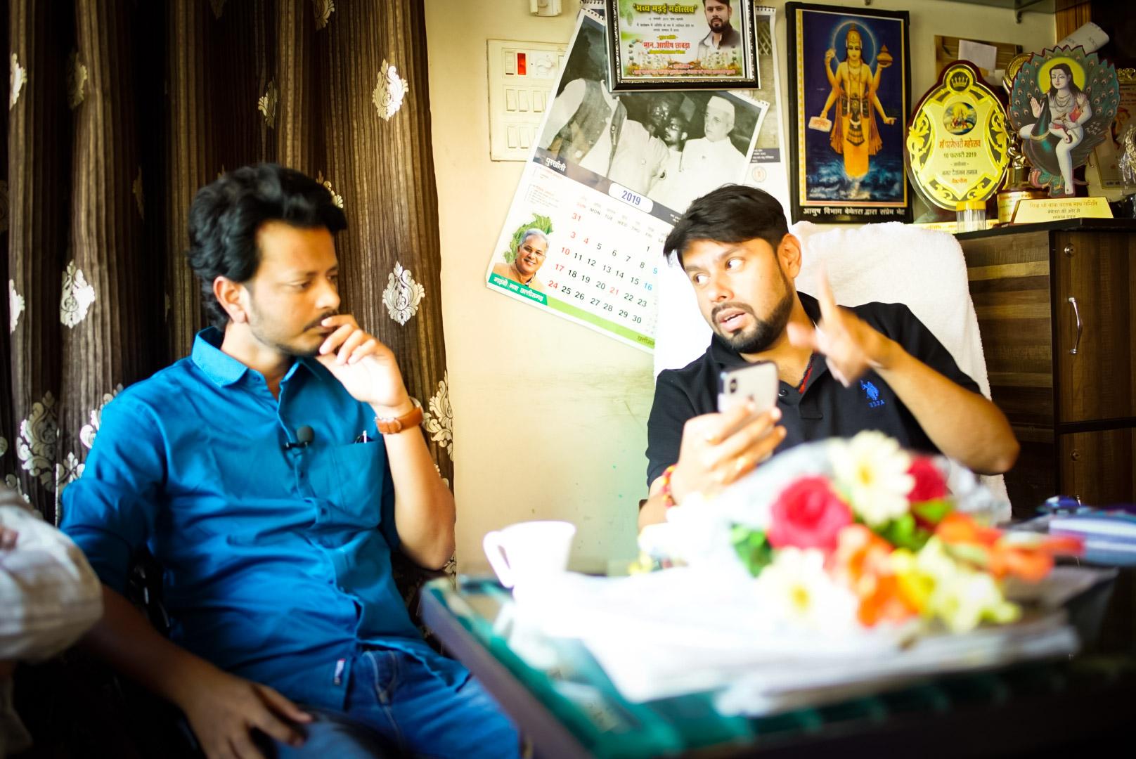 Ashish Chhbra MLA Bemetara with Amir Hashmi