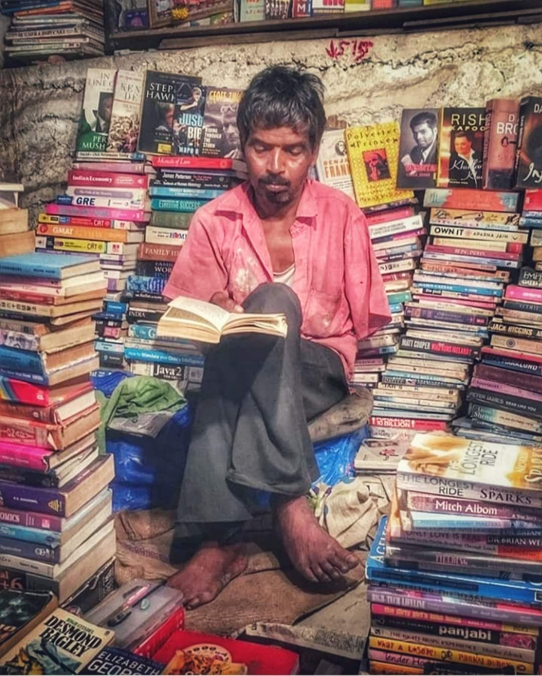 Bookseller poor india